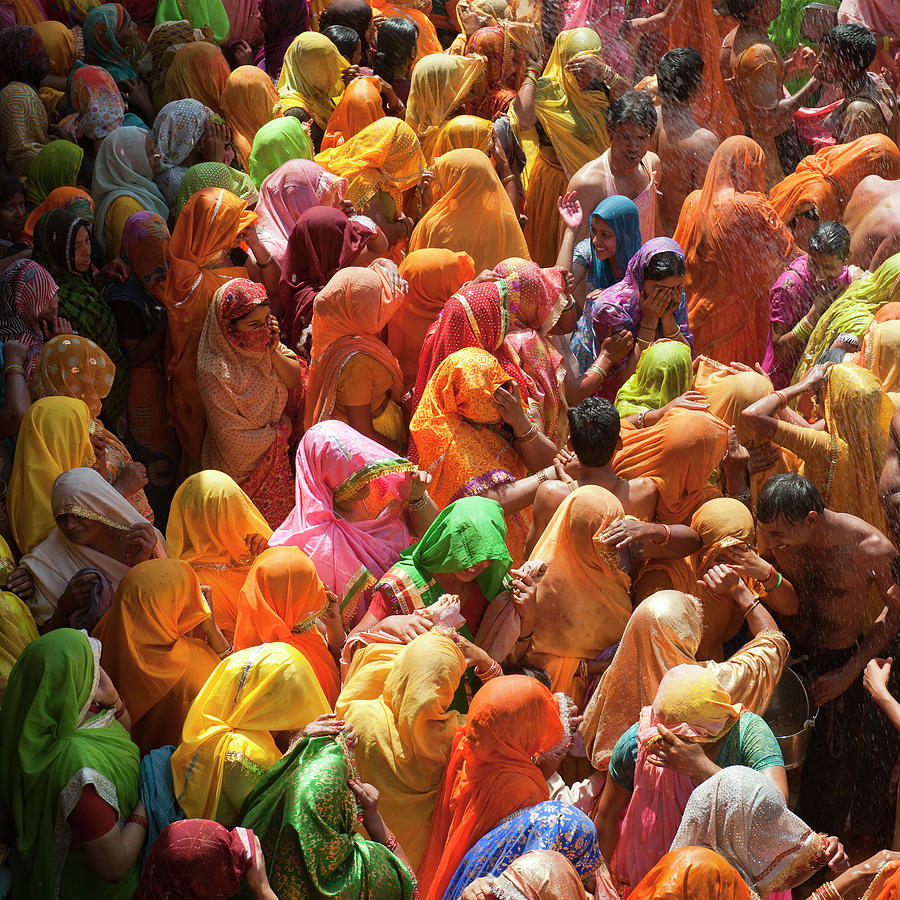 Holi India Photograph by Tayseer Al-hamad