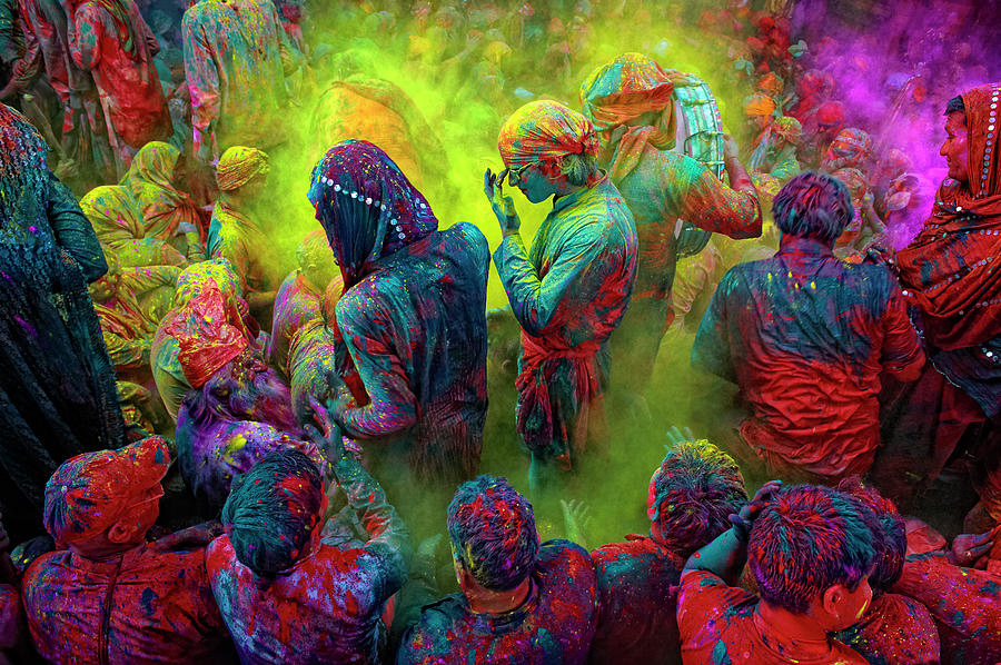 Holi, The Festival Of Colors, India Photograph by Poras Chaudhary
