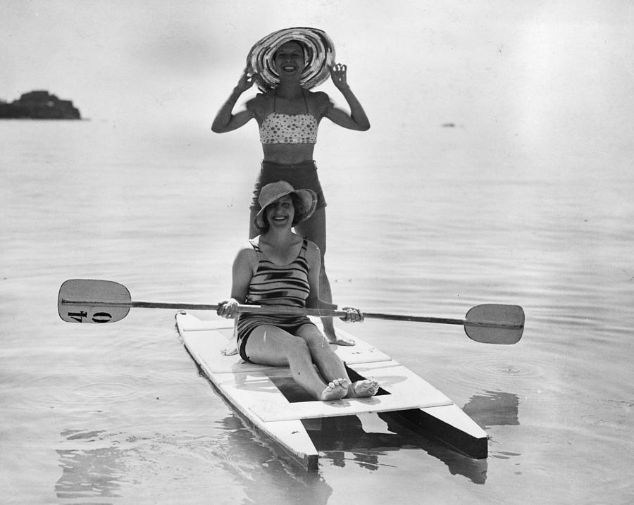 Holiday Canoers Photograph by E. Phillips
