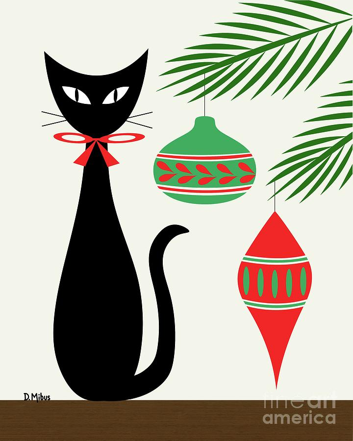Holiday Cat 1 by Donna Mibus