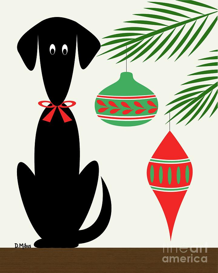 Holiday Dog 1 by Donna Mibus