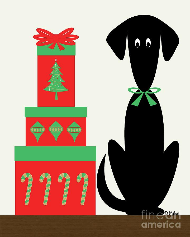 Holiday Dog 2  by Donna Mibus