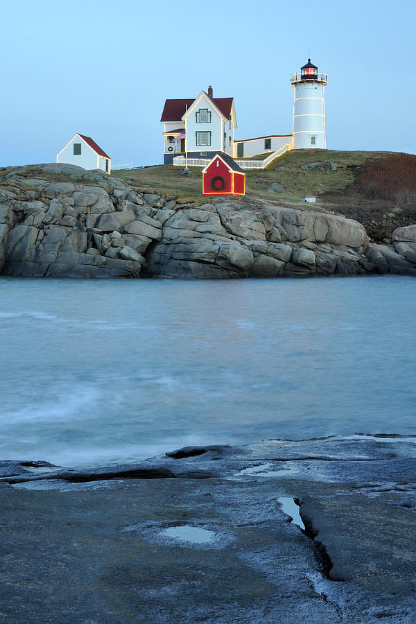 Holiday Nubble on the Rocks by Luke Moore