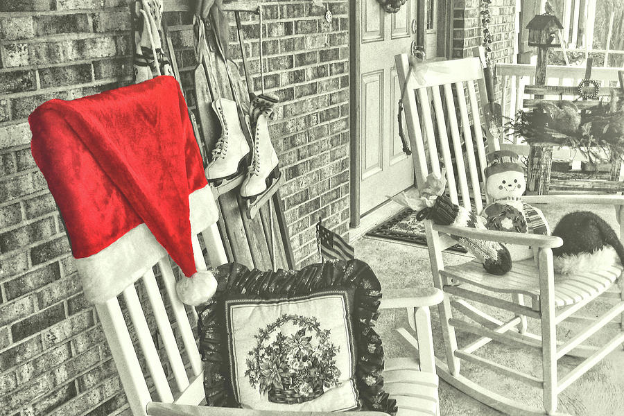 Holiday Photograph - Holiday Porch by JAMART Photography