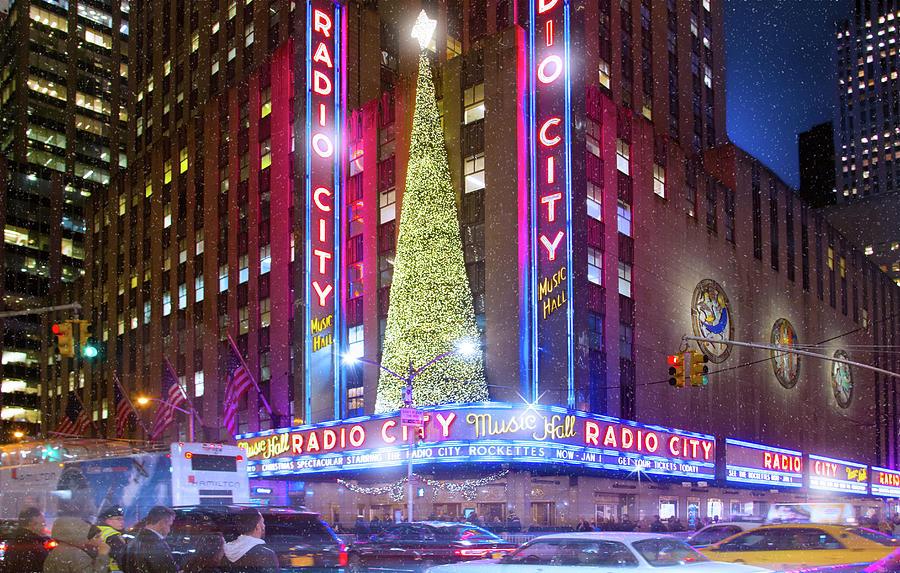 Radio City Music Hall Photograph - Holiday Season At Radio City Music Hall  by Mark Andrew Thomas