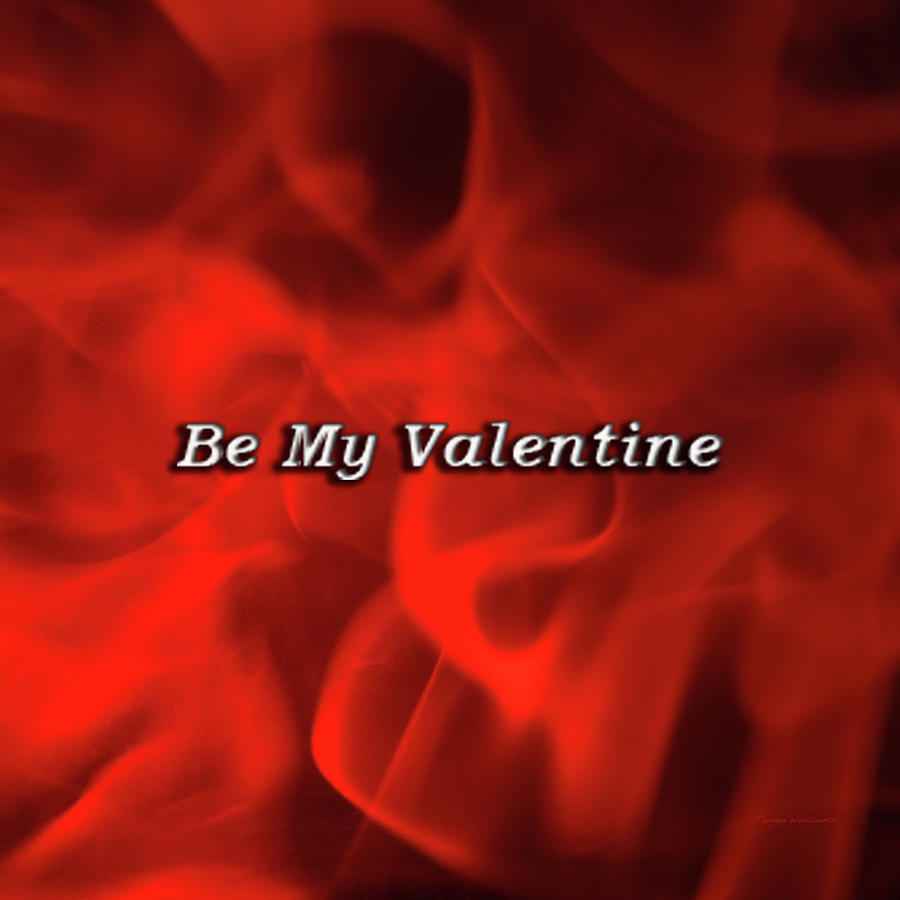 St. Valentine Photograph - Holiday Time Valentine Flames Sq Format by Thomas Woolworth