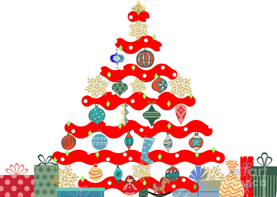 Holiday Tree Art Digital Art
