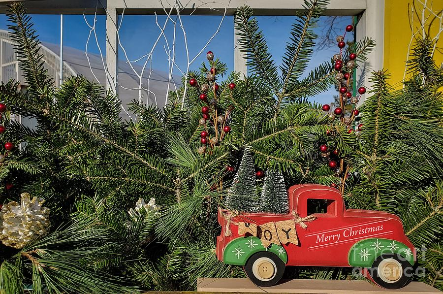 Holiday Truck Window Display  by Mary Capriole