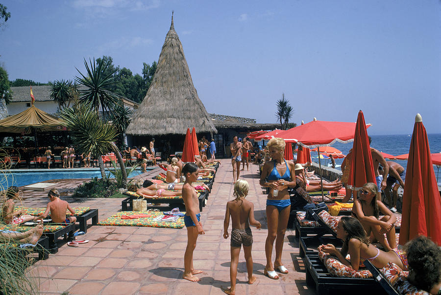 Holidays In Marbella Photograph by Slim Aarons