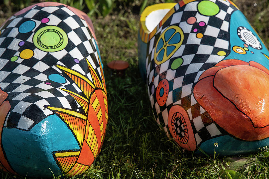 Holland Michigan Tulip Festival Wooden Shoes By John Mcgraw
