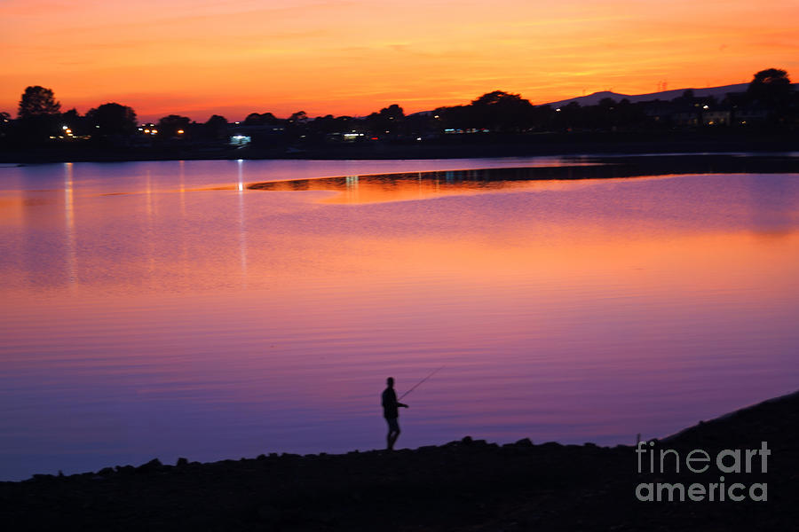 Hollingworth Lake Sunset by David Birchall