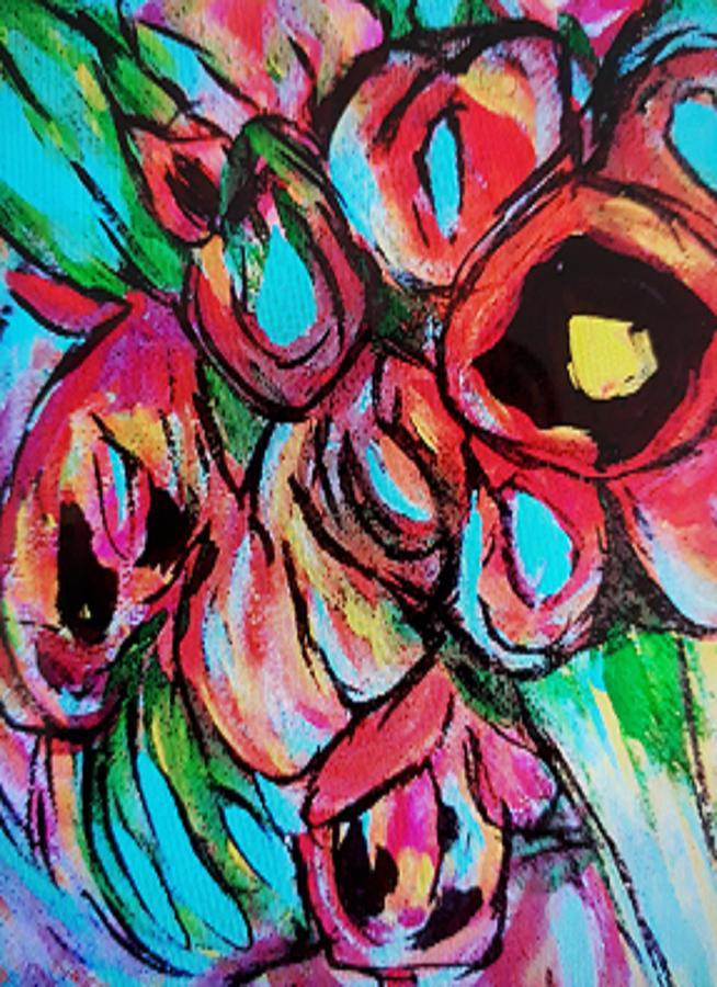 Hollyhocks by Nikki Dalton