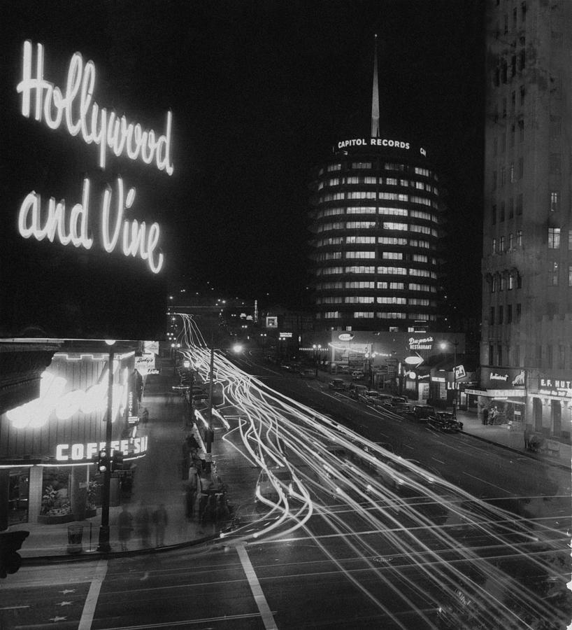 Boulevard Photograph - Hollywood And Vine by Authenticated News