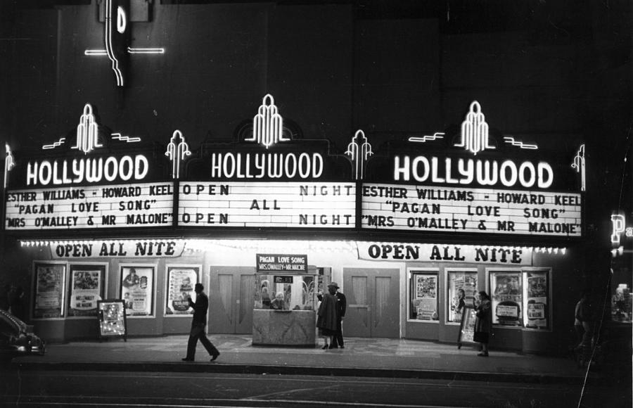 Hollywood Cinema Photograph by Kurt Hutton
