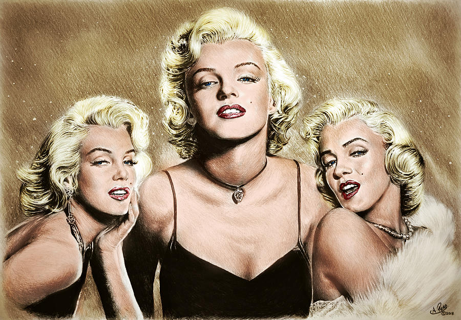 Hollywood Legends Marilyn Colour Drawing