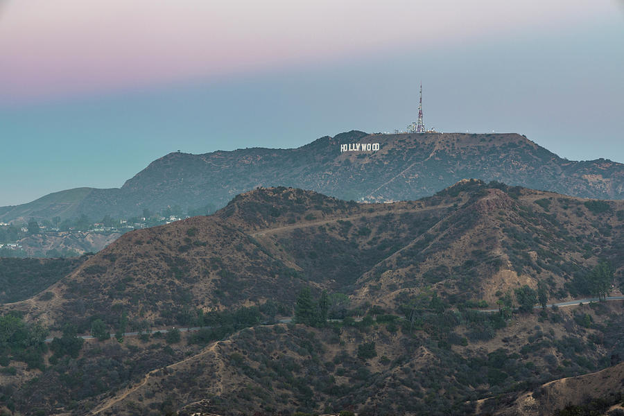 Hollywood Sign At Sunrise Photograph