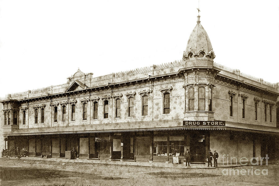 Building Photograph - Holt Block building  It was built in 1886, Visalia, Tulare Coun by California Views Archives Mr Pat Hathaway Archives