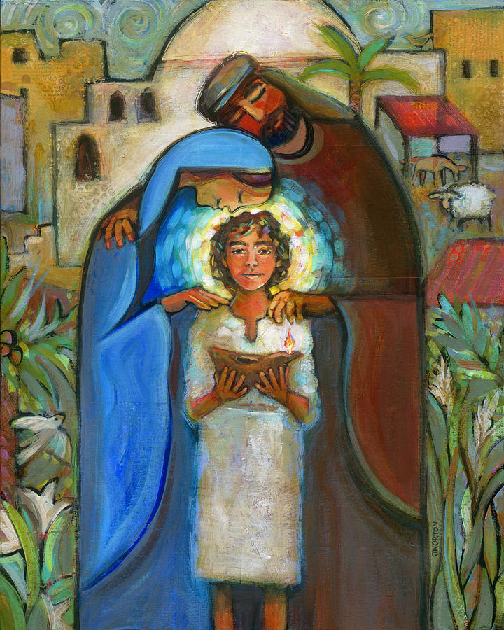 Holy Family Painting - Holy Family by Jen Norton
