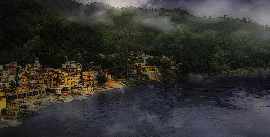 Rishikesh Digital Art - Holy Rishikesh  by Manjot Singh Sachdeva