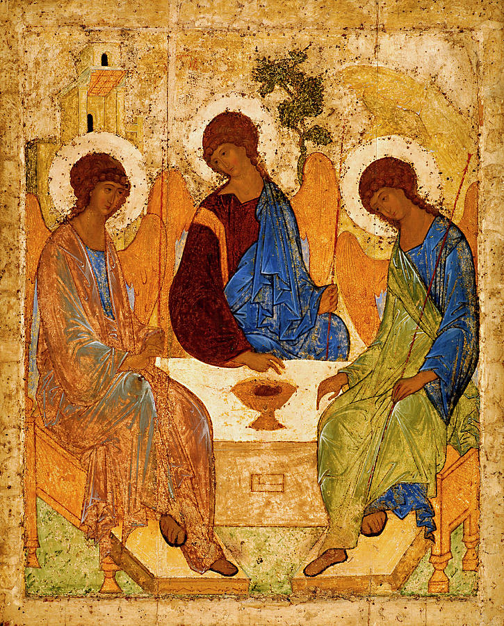 Holy Trinity Painting - Holy Trinity by Andrei Rublev