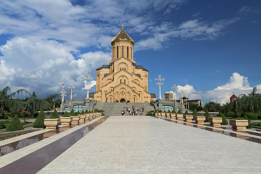 Holy Trinity Cathedral In Tbilisi Photograph by Rafax