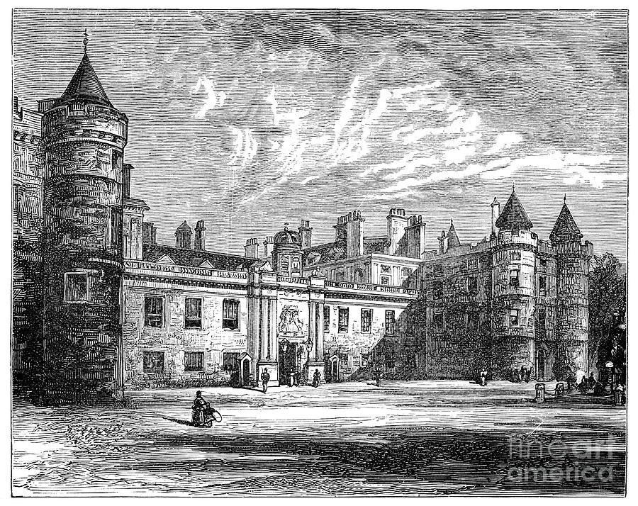 Holyrood Palace, Edinburgh, 1900 Drawing by Print Collector