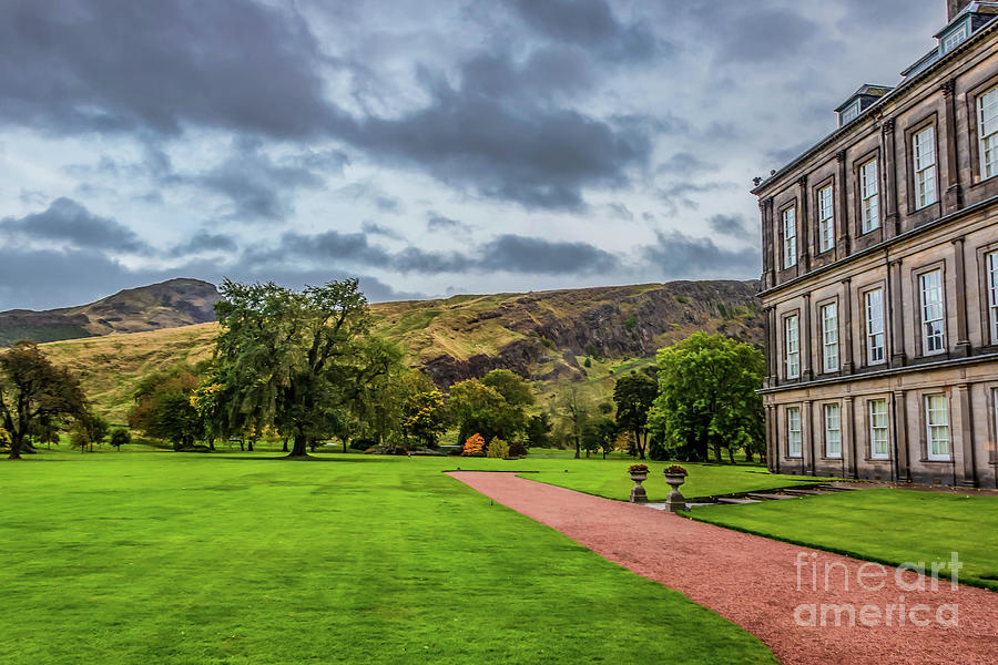 Holyrood Palace With Arthurs Seat Photograph