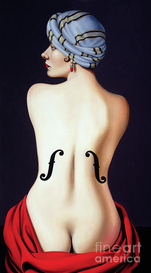 Nude Painting - Homage To Man Ray by Catherine Abel