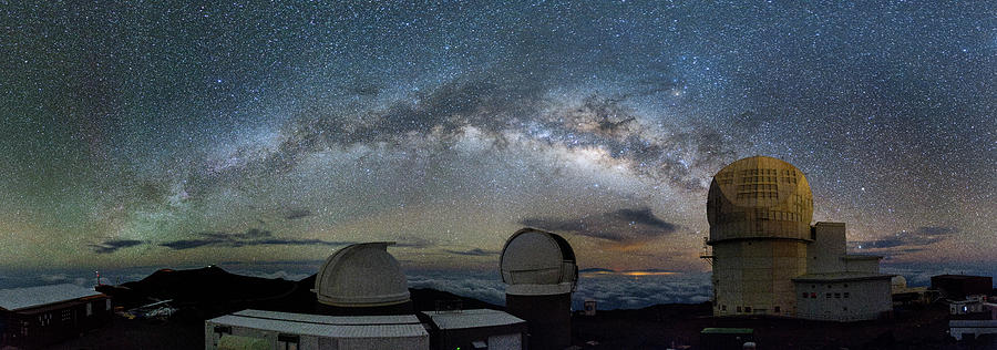 Home Galaxy Over Haleakala by Jason Chu