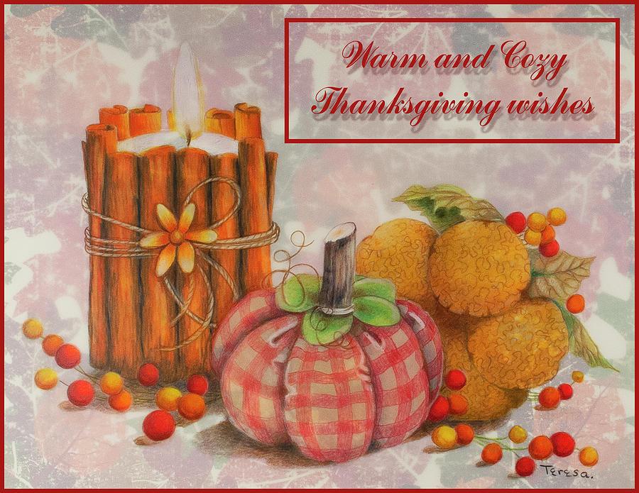 Home Made Autumn Thanksgiving card by Teresa Frazier