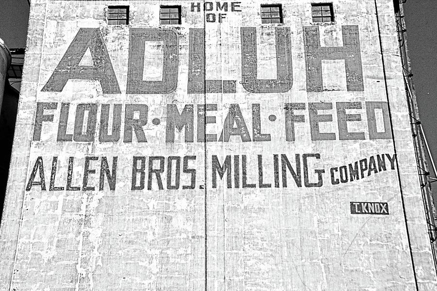 Home Of Adluh Flour Meal Feed Mill Columbia SC Black And White by Lisa Wooten