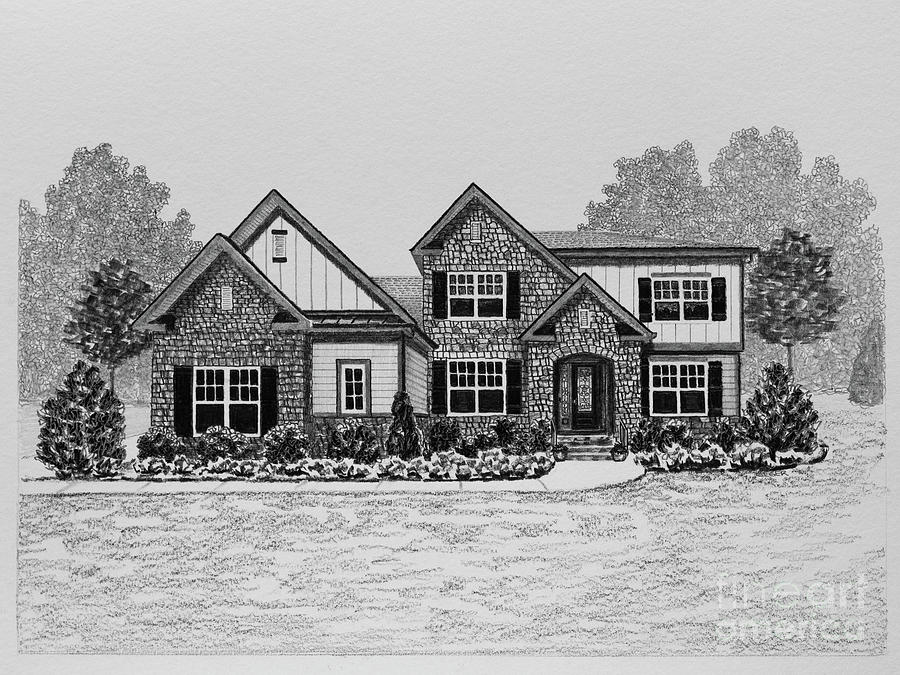 Home Portrait 3006 Drawing