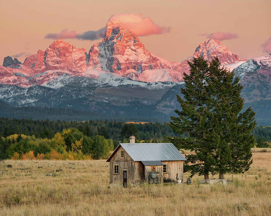 Appealing Photograph - Home Under The Mountain by Leland D Howard