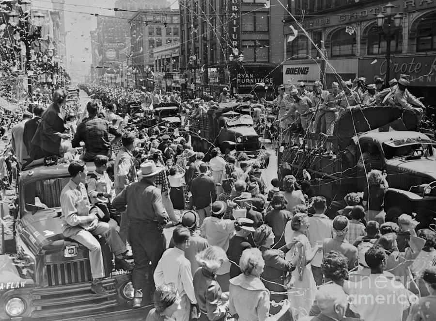 Homecoming Parade For Korean War Photograph by Bettmann