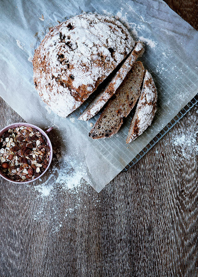 Homemade Bread With Muesli Photograph by Line Klein