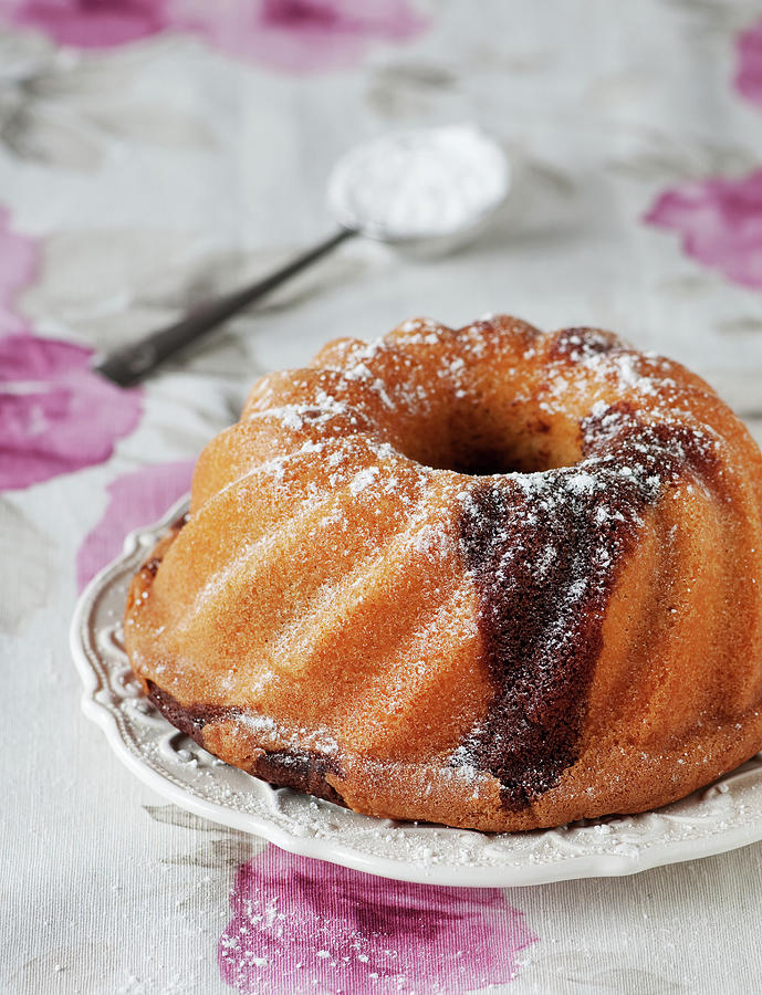 Homemade Cake With Chocolate Photograph by Oxana Denezhkina