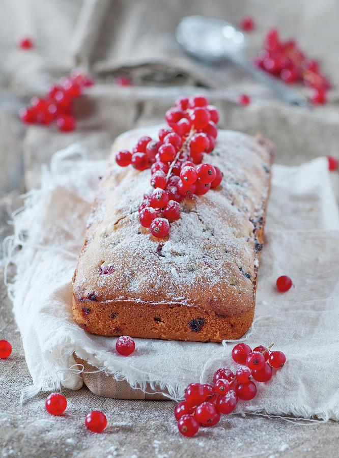 Homemade Cake With Redcurrant Photograph by Oxana Denezhkina