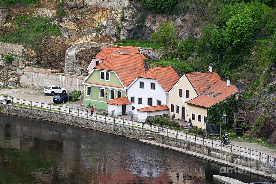 Homes On Vltava River by Les Palenik