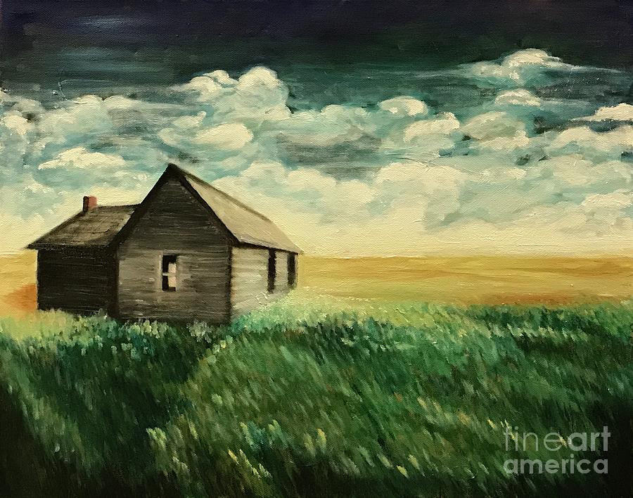 Oil Painting Painting - Homestead by Boni Arendt