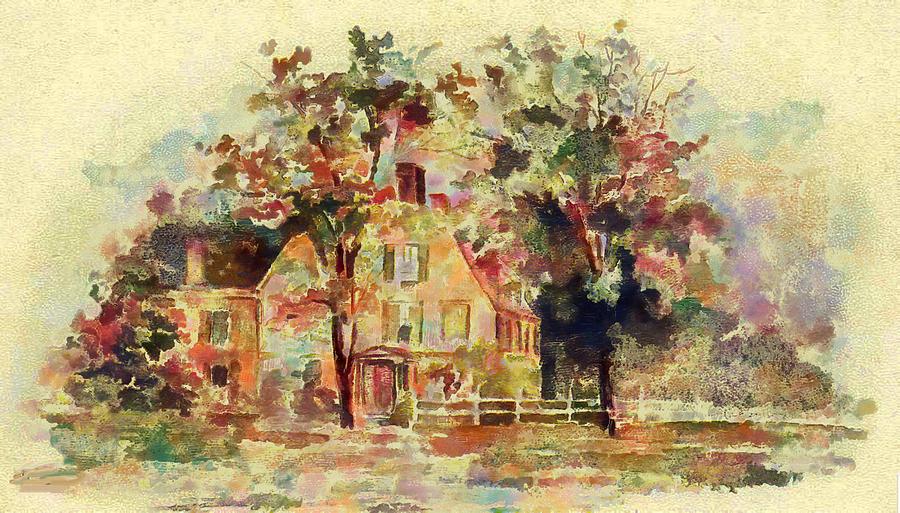 Homestead in Watercolor by Mario Carini