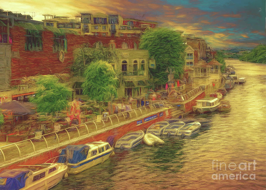 Kingston Upon Thames Photograph - Hometown Glow by Leigh Kemp