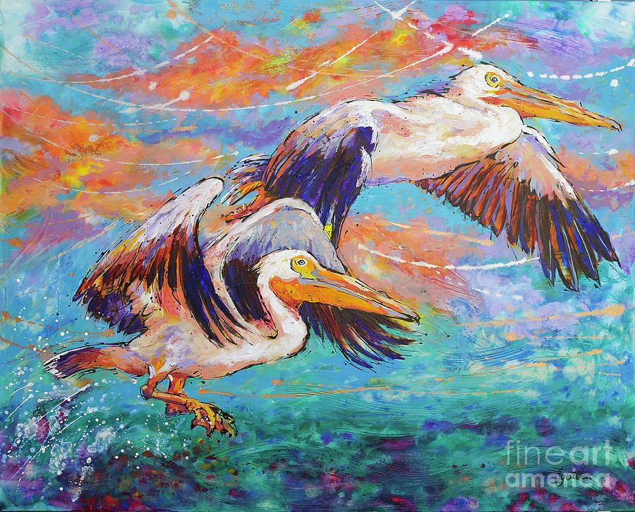 Homeward Bound Pelicans by Jyotika Shroff