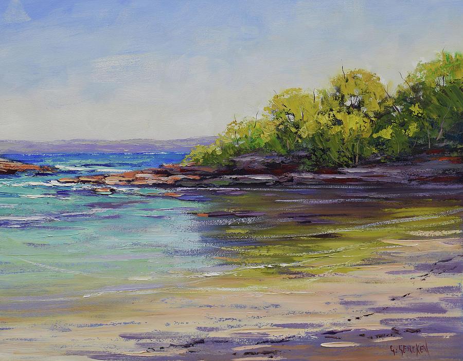 Beach Scenes Painting - Honeymoon Bay  by Graham Gercken