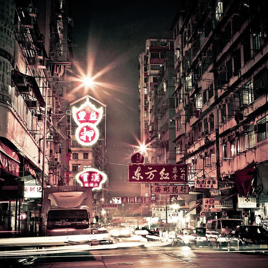 Hong Kong At Night Photograph by Andi Andreas