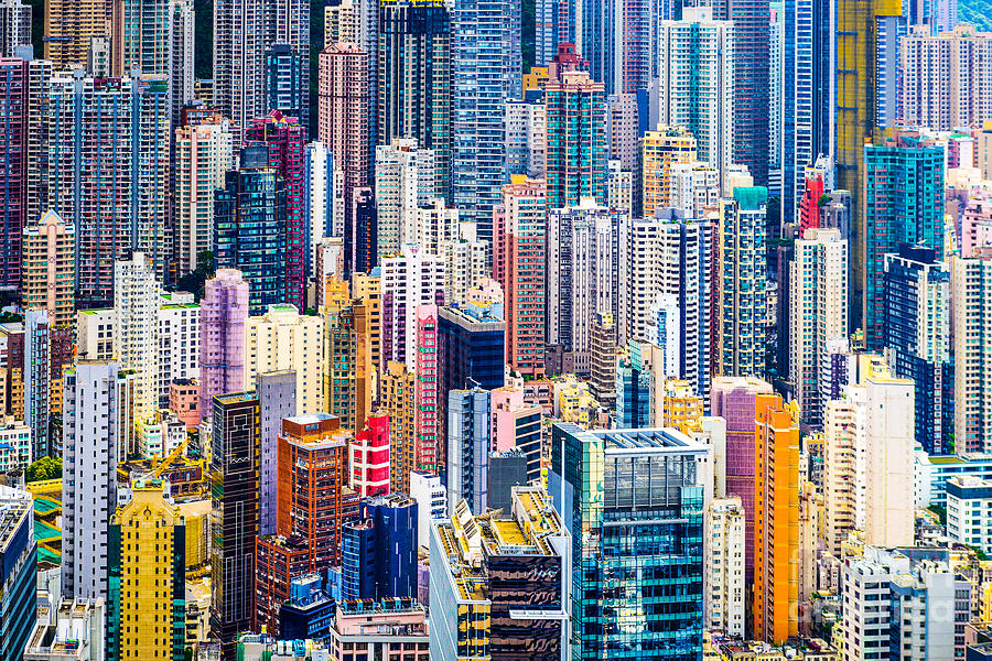 City Photograph - Hong Kong, China Dense Cityscape Of by Esb Professional