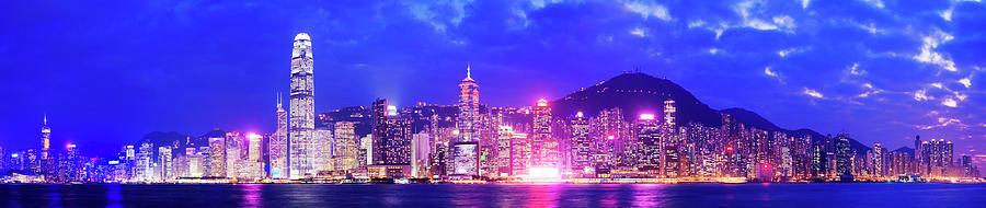 Hong Kong City Skyline In China Photograph by Deejpilot