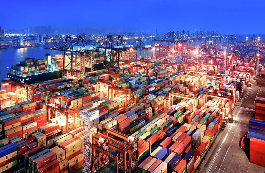 Hong Kong Container Terminal Photograph by Xpacifica