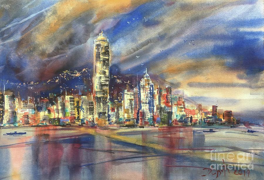 Hong Kong Painting - Hong Kong by Dieter Wystemp
