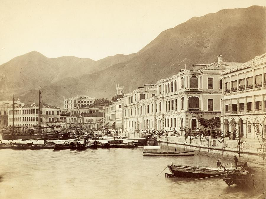 Hong Kong Harbour Photograph by John Thomson