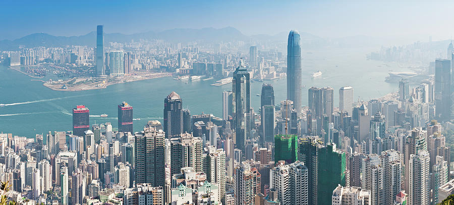 Hong Kong Iconic Skyscraper City Photograph by Fotovoyager